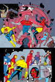 X-Statix No.25 Group: Mr. Sensitive, Vivisector, X-Statix and Avengers Print by Michael Allred