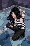 X-23 No.1 Cover: X-23 Kneeling Reprodukcje autor Danni Luo