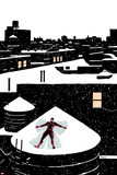 Daredveil No.7 Cover; Daredevil Making a Snow Angel on a Rooftop Photo by Paolo Rivera