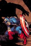 Captain America No.8 Cover: Captain America Crouching Posters par Alan Davis