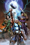 Ultimate Thor No.3 Cover: Thor, Loki, and Balder Print by Carlos Pacheco