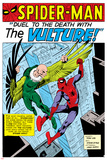 Spider-Man: Panel with Spider-Man and Vulture Fighting Posters