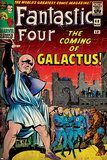 Marvel Comics Retro: Fantastic Four Family Comic Book Cover No.48, The Coming of Galactus (aged) Posters