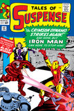 Marvel Comics Retro: The Invincible Iron Man Comic Book Cover No.52, Facing the Crimson Dynamo Prints