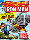 Marvel Comics Retro: The Invincible Iron Man Comic Book Cover No.53, Black Widow Strikes Again Poster