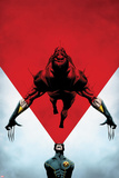 Wolverine No.8 Cover: Cyclops Using his Optic Blast on Wolverine Posters by Jae Lee
