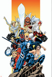The Official Handbook Of The Marvel Universe Teams 2005 Group: Captain Britain Posters by Pablo Raimondi