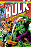 Marvel Comics Retro: The Incredible Hulk Comic Book Cover No.181, with Wolverine and the Wendigo Prints