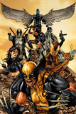 Wolverine: The Road to Hell No.1 Cover: Wolverine, X-23, Deadpool, Psylocke, Archangel, & Fantomax Plakaty autor Mico Suayan