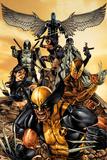 Wolverine: The Road to Hell No.1 Cover: Wolverine, X-23, Deadpool, Psylocke, Archangel, & Fantomax Poster von Mico Suayan