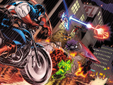 Avengers: X-Sanction No.1 Cover: Captain America, Red Hulk, Spider-Man, Iron Man and Others Prints by Ed McGuinness