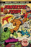 Marvel Comics Retro: Fantastic Four Family Comic Book Cover No.166, Thing Vs. Hulk (aged) Print
