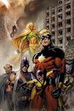 Chaos War: Dead Avengers No.1 Cover: Captain Marvel, Yellowjacket, Swordman, Vision and Others Posters by Tom Grummett