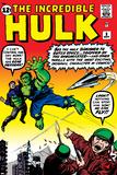 Marvel Comics Retro: The Incredible Hulk Comic Book Cover No.3 Plakát