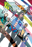 Young Avengers 8 Cover: Hawkeye, Hulkling, Loki, Marvel Boy, Miss America, Prodigy, Wiccan Print by Jamie McKelvie