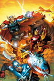 Avengers vs. Pet Avengers No.3 Cover: Captain America, Iron Man, Lockjaw, and Thor Fighting Print by Ig Guara