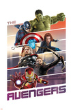The Avengers: Age of Ultron - Hulk, Captain America, Black Widow, Thor, Hawkeye, Iron Man Plakát