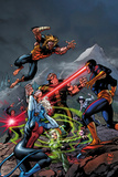 X-Men Forever 2 No.8 Cover: Cyclops, Rogue, and Sabretooth Fighting Posters by Tom Grummett