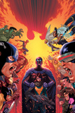 What If Avx 1 Cover: Hulk, Captain America, Iron Man, Beast, Wolverine, Hope, Magneto Print by Jorge Molina