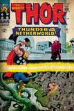 Marvel Comics Retro: The Mighty Thor Comic Book Cover No.130, Thunder in the Netherworld (aged) Prints