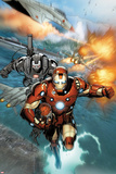Invincible Iron Man No.513: Iron Man and War Machine Flying Posters by Salvador Larroca