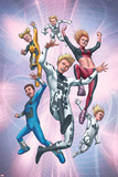 FF No.15 Cover: Energizer, Lightspeed, Zero G, Mass Master, and Franklin and Valeria Richards Posters by Mike Choi