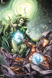 X-Men Legacy No.255 Cover: Polaris and Magneto Fighting Prints by Mico Suayan