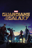 Guardians of the Galaxy: Rocket Raccoon, Groot, Star-Lord, Drax, Gamora Print