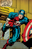 Marvel Comics Retro: Captain America Comic Panel, U.S. naval Hospital (aged) Photo