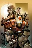 Invincible Iron Man No.500.1 Cover: Iron Man, Pepper Potts, and Virginia Print by Salvador Larroca