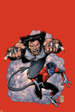 Wolverine No.19 Cover: Wolverine and Nightcrawler Screaming Print by Darick Robertson