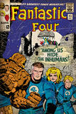 Marvel Comics Retro: Fantastic Four Family Comic Book Cover No.45 (aged) Photo