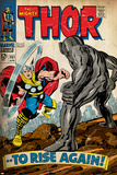 Marvel Comics Retro: The Mighty Thor Comic Book Cover No.151 --To Rise Again! (aged) Print