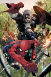 Avenging Spider-Man No.5: Spider-Man and Captain America Affiches par Leinil Francis Yu