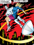 Marvel Comics Retro: Silver Surfer Comic Panel, Saving the girl Poster
