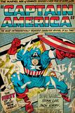 Marvel Comics Retro: Captain America Comic Panel; Smashing through Window (aged) Billeder