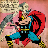 Marvel Comics Retro: Mighty Thor Comic Panel (aged) Poster