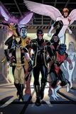 X-Men Legacy Annual No.1 Group: Cyclops, Wolverine, Nightcrawler and Angel Prints by Daniel Acuna