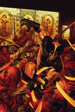 Wolverine/Hercules: Myths, Monsters & Mutants No.1 Cover: Wolverine and Hercules Fighting Poster by Joe Jusko