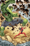 Incredible Hulks No.613: Hulk and Red She-Hulk Fighting Posters by Tom Raney