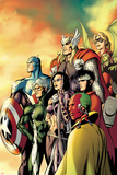 I Am an Avenger No.5 Cover: Ant-Man, Vision, Hawkeye, Wiccan, Speed, Captain America and Others Posters by Alan Davis