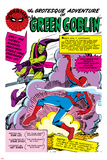Spider-Man: Panel with Spider-Man's First Battle with Green Goblin Posters