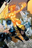 Secret Invasion: X-Men No.4 Cover: Wolverine and Phoenix Posters par Terry Dodson
