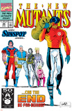 New Mutants No.99 Cover: Cable, Sunspot, Warpath, Cannonball, Domino, Boom Boom and New Mutants Posters by Rob Liefeld