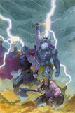 Thor: God of Thunder 9 Cover: Odin, Thor Print by Esad Ribic