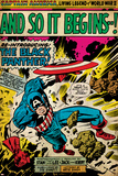Marvel Comics Retro: Captain America Comic Panel, And So It Begins..! (aged) Posters