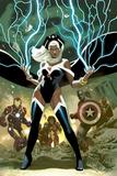 Avengers No.21 Cover: Storm, Captain America, and Iron Man Plakater av Daniel Acuna