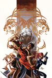 Secret Avengers No.7 Cover: Shang-Chi, Valkyrie, Black Widow, and Moon Knight Posing Prints by Mike Deodato