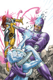 X-Men: First Class No.14 Cover: Machine Man, Iceman and Marvel Girl Fighting Photo by Roger Cruz