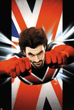 Ultimate Comics Ultimates No.6 Cover: Captain Britain Flying Prints by Kaare Andrews